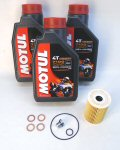 Norton Motul 7100 Oil Change Kit [stock drn plug]