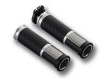Rizoma Lux Billet Grip - Pair, Silver