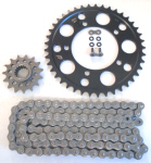520 Conversion Kit -STEEL Sprockets & DID Chain