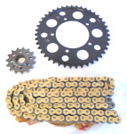 520 Conversion Kit -STEEL Sprockets & DID VX Chain