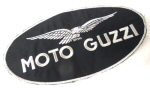 Large Black Moto Guzzi Patch 9.75 x 5 inches