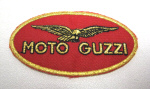 Small Moto Guzzi Patch 3.15 x 1.75 inches