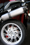 Agostini X-Black Ti Slip-on Exhaust for MG Stelvio