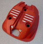 Used Moto Guzzi Valve Cover, Red