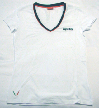 OEM Aprilia Ladies T-shirt White Medium - B043416