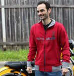 Moto Guzzi Sweatshirt, Red -B06340x