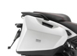 OEM Aprilia Side Cases, White - CM257302