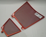 Red Oil Cooler and Radiator Guard Set For V4's