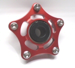 Federleicht Aluminum Sprocket Carrier w/Pins, Red