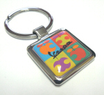 Vespa Accessories Metal Key Ring - Apple