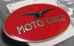 "RH Name Plate Red/Gold ""Moto Guzzi"" - GU06917300"