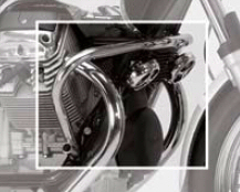 OEM Moto Guzzi Front Engine Guard in Chrome
