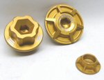 Giamoto V4 Anodized Accessory Kit, Gold 3 Piece