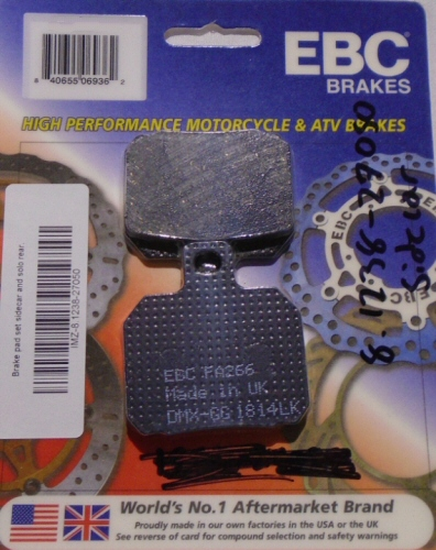 Ural Brake Pads for Sidecar  -IMZ-8.1238-27050