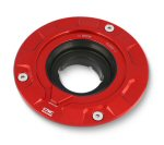 CNC Racing Anodized Gas Cap Base, Red