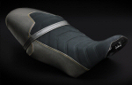 LuiMoto Seat Cover For Griso - Black w/Yel Stitch
