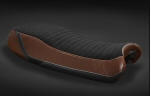 LuiMoto Seat Cover For V7 - Black w/Tan Sides