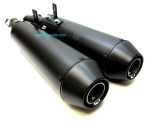 Mistral Slip-On Exhausts, Satin Black for Audace