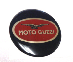 Decal 60mm Diameter Enamel - Moto Guzzi