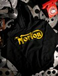 Pullover Hoodie Sweater, Norton, Black