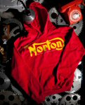 Pullover Hoodie Sweater, Norton, Red