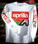 Aprilia Long Sleeve T-Shirt, Misano A, White