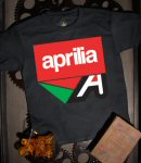 Aprilia Kid's T-Shirt Misano A, Black