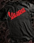 Vespa T-Shirt, Black