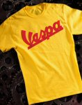 Vespa T-Shirt, Yellow