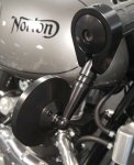 Norton Bar End Mirrors, Black  Sold as a PAIR