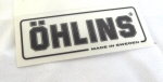 Ohlins Decal, Black on Transparent 1 by 2 inches