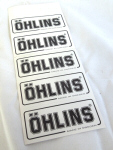 Ohlins Decal, Black on White 1 x 2.6   -5 pack
