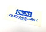 Ohlins Decal, Blue on Transparent .9 x 2.25 inches