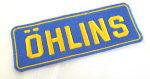 Ohlins Patch, Embroidered 1.6 x 4.5 inches