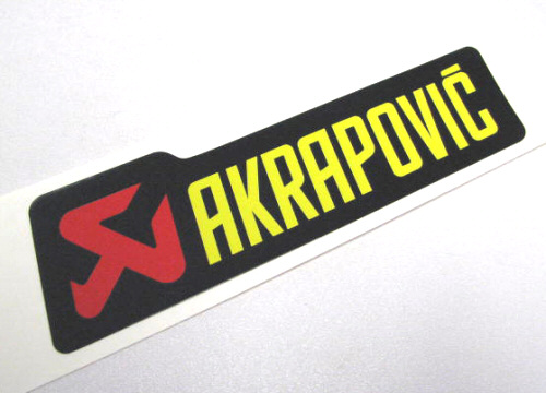 Akrapovic Decal 4 x 1.25