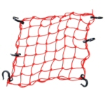 Adjustable Bungee Net, Red 15x15 Inches