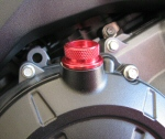 Pingel Anodized Aluminum Oil Fill Cap in Red