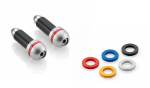Rizoma Switch Bar Ends w/Color Change discs, SLV
