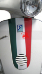 Horn Cover Flag Decal for Vespa LX50, LX150