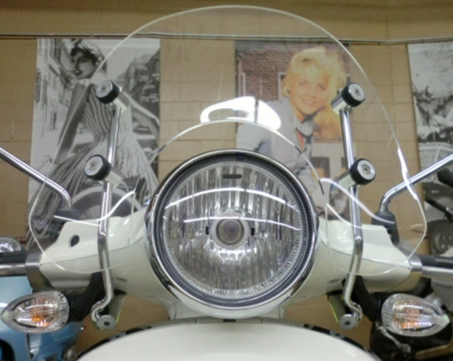 Prima Short Windscreen for Vespa Primavera -CLEAR