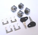SW Motech Lock Set with 4 tumblers & 2 Keys