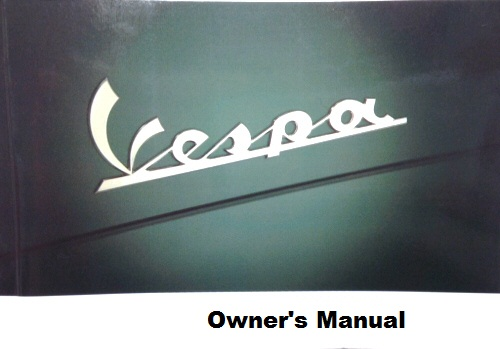 OEM Vespa Owner's Manual -'13-'17 946  150ie