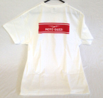 OEM Moto Guzzi White T-Shirt, Back Print Only