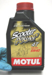 Motul Scooter Power Synthetic Oil 5W40 1 Liter