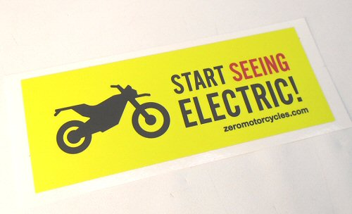 OEM Zero -Seeing Electric- Decal - ZM85-00015