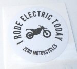 OEM Zero -I Rode Electric- Decal, WHT -ZM85-00016