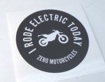 OEM Zero -I Rode Electric- Decal, BLK -ZM85-00017