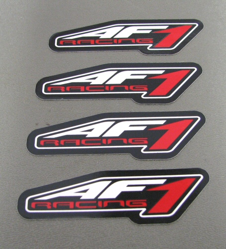 AF1 Racing 2011 Logo Sticker (4 Pack) LARGE