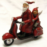 AF1 Santa on a Scooter with Elf