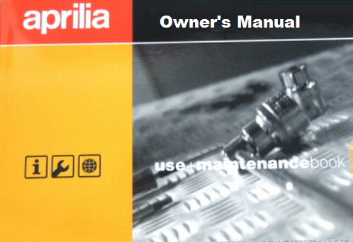 OEM Aprilia Owner's Manual - '04-'08 SR50 Factory